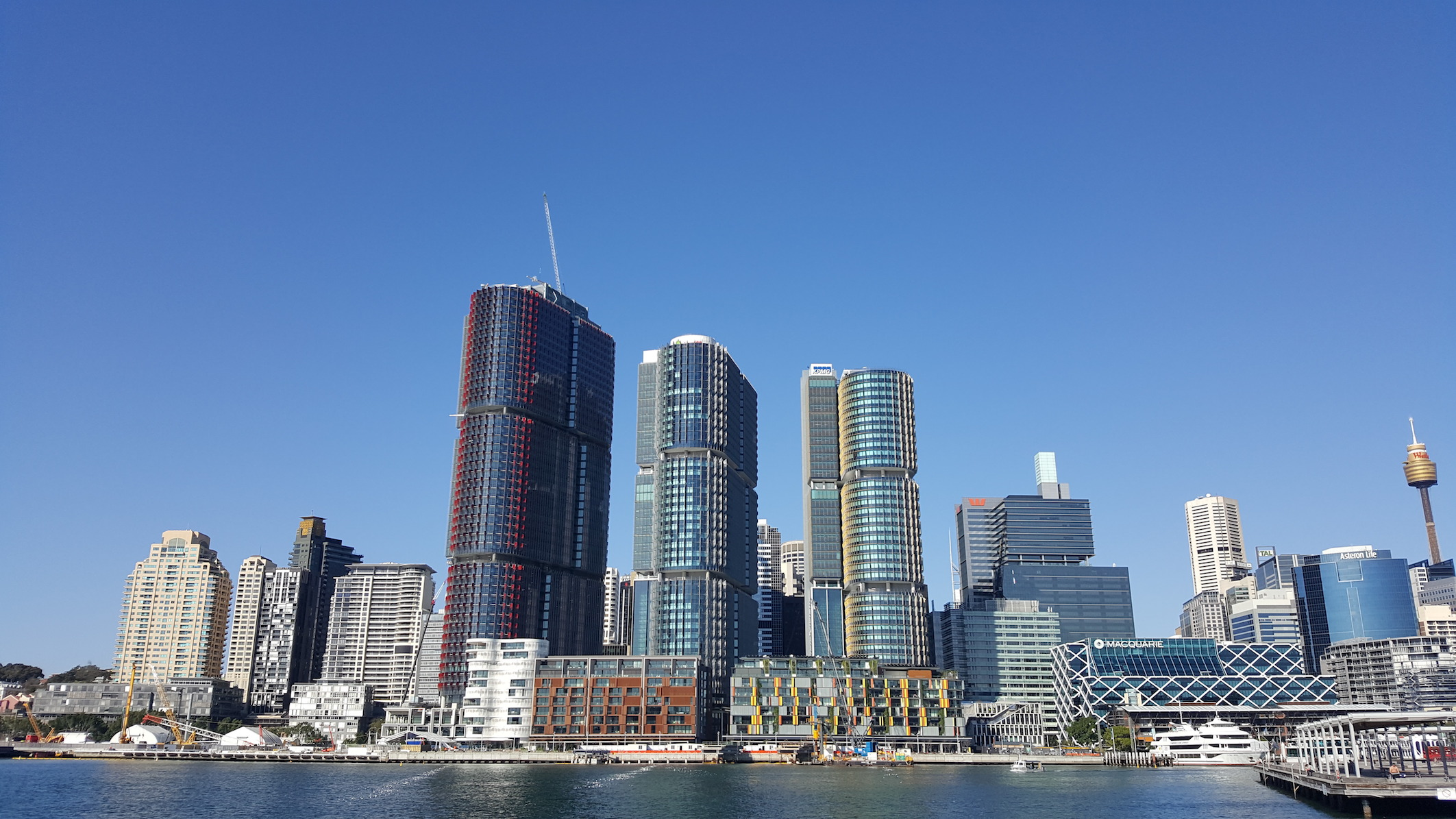 View across Sydney's city skyline from Pyrmont